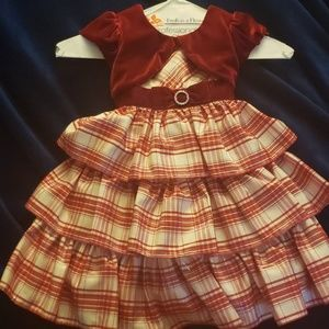 Jona Michelle Gorgeous Red Plaid Holiday Dress 3T